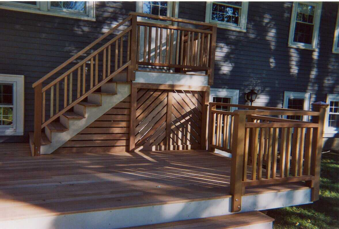 deck stairs designs