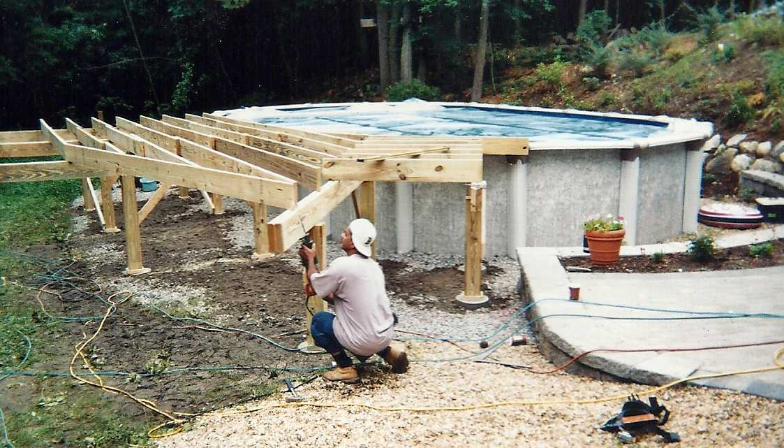 Above Ground Pool Decks Build From Scratch Or Buy Prefab 2 Pictures to ...