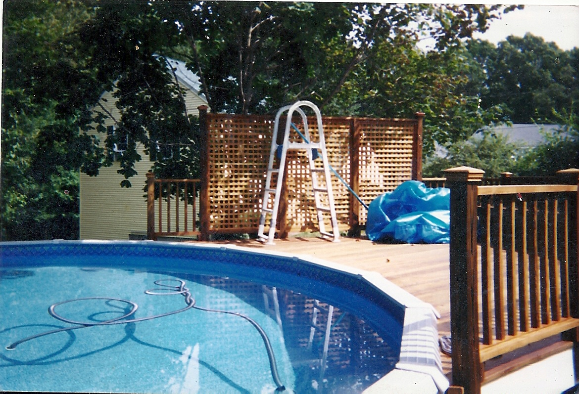Above ground pool privacy deck home design ideas for Above ground pool privacy ideas