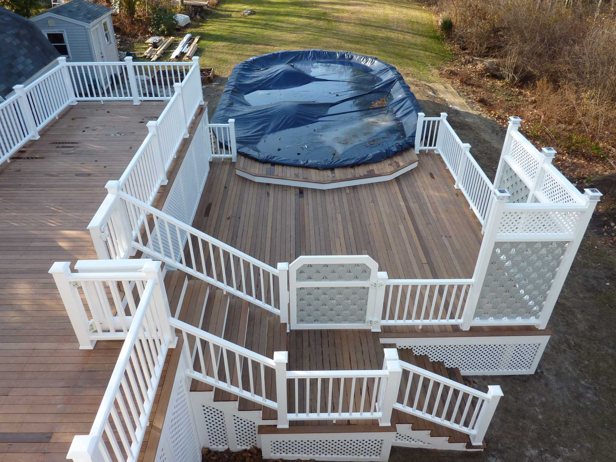 Multi Level Above Ground Pool Deck